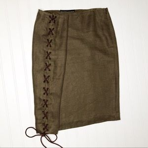 Ralph Lauren Black Label linen hemp blend skirt